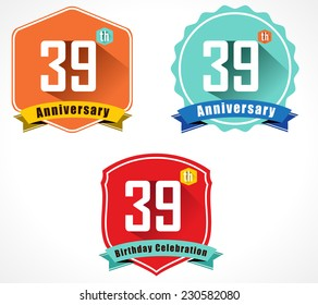 39th birthday images stock photos vectors shutterstock