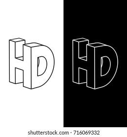 3D 4k symbol vector illustration