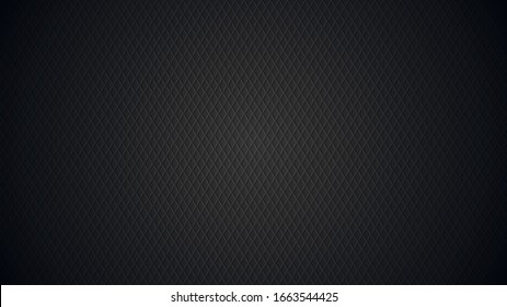 3D abstract background, dark texture with rhombuses. Black cool background. Vector illustration.