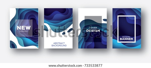 3D abstract background with paper cut shapes. .Layered tunnel wave background. Shadows box. Vector design for business presentations, flyers, posters
