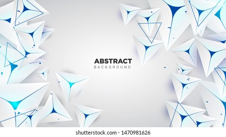 3D Abstract Background With Triangle Composition. Vector