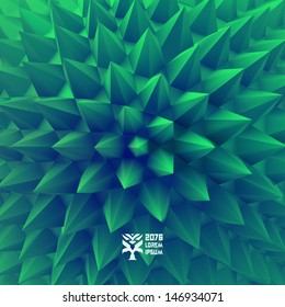 3D abstract background. Vector illustration.
