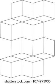 3d abstract Geometric Pattern