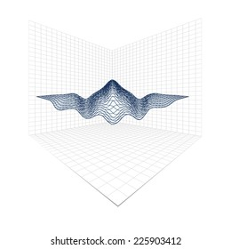 3d abstract graph, vector