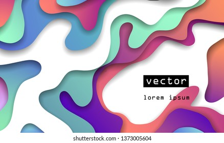 3d abstract paper cut background
