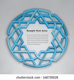 3D abstract round arabesque background