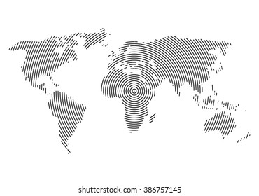 World map in 3d ball images stock photos vectors shutterstock 3d abstract world map planet lines global world map halftone concept infographic gumiabroncs Images