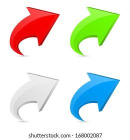 3d arrow icon concept