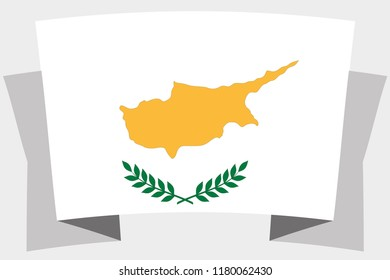 A 3D Banner with the Country Flag of  Cyprus