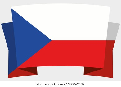 A 3D Banner with the Country Flag of  Czech Republic