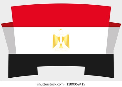 A 3D Banner with the Country Flag of  Egypt