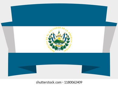 A 3D Banner with the Country Flag of  El Salvador