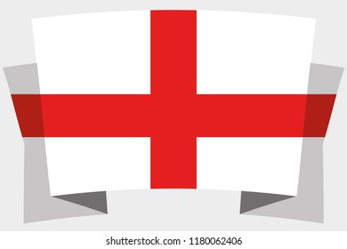 A 3D Banner with the Country Flag of  England