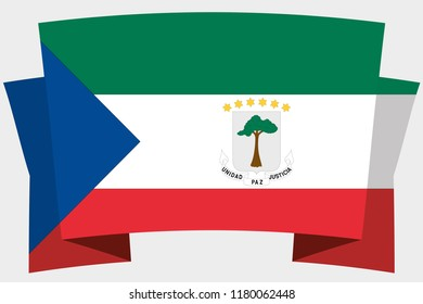 A 3D Banner with the Country Flag of  Equatorial Guinuea