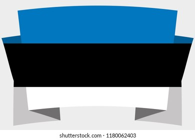 A 3D Banner with the Country Flag of  Estonia