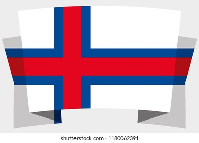 A 3D Banner with the Country Flag of  Faroe Islands