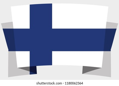 A 3D Banner with the Country Flag of  Finland