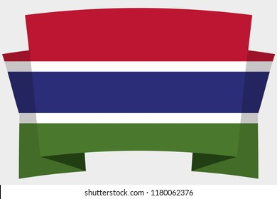 A 3D Banner with the Country Flag of  Gambia