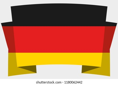 A 3D Banner with the Country Flag of  Germany