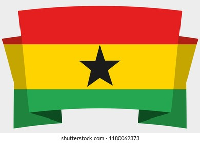 A 3D Banner with the Country Flag of  Ghana