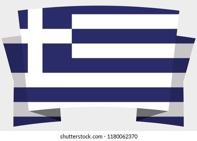 A 3D Banner with the Country Flag of  Greece