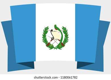 A 3D Banner with the Country Flag of  Guatemala