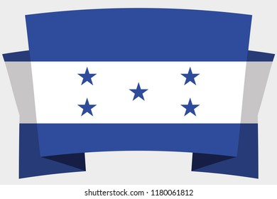 A 3D Banner with the Country Flag of  Honduras