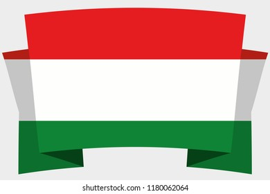 A 3D Banner with the Country Flag of  Hungary