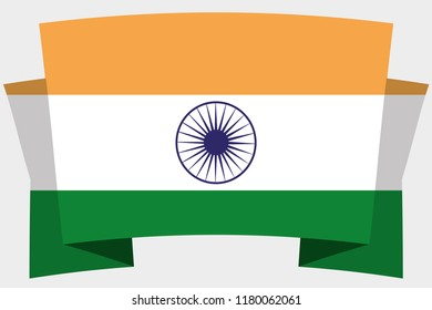 A 3D Banner with the Country Flag of  India