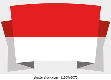A 3D Banner with the Country Flag of  Indonesia