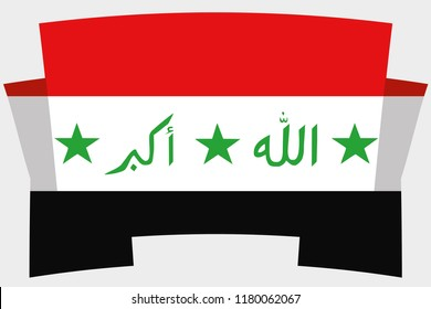 A 3D Banner with the Country Flag of  Iraq