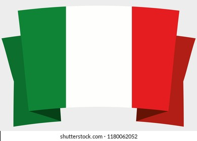 A 3D Banner with the Country Flag of  Italy