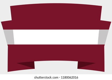 A 3D Banner with the Country Flag of  Latvia