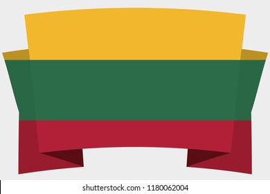 A 3D Banner with the Country Flag of  Lithuania