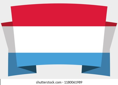 A 3D Banner with the Country Flag of  Luxembourg