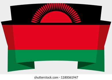 A 3D Banner with the Country Flag of  Malawi