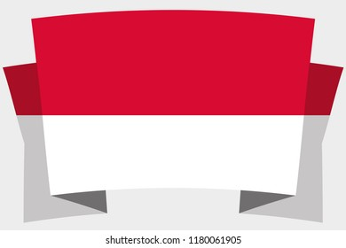 A 3D Banner with the Country Flag of  Monaco