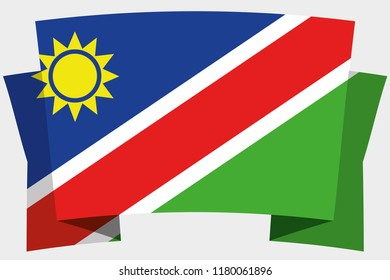 A 3D Banner with the Country Flag of  Namibia