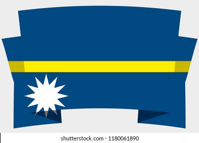 A 3D Banner with the Country Flag of  Nauru