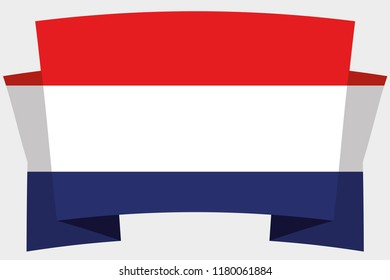 A 3D Banner with the Country Flag of  Netherlands
