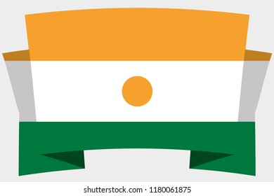 A 3D Banner with the Country Flag of  Niger