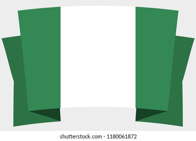 A 3D Banner with the Country Flag of  Nigeria