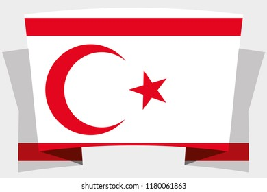 A 3D Banner with the Country Flag of  Northern Cyprus