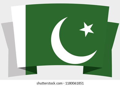 A 3D Banner with the Country Flag of  Pakistan
