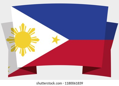 A 3D Banner with the Country Flag of  Philippines