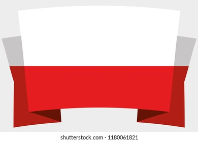 A 3D Banner with the Country Flag of  Poland