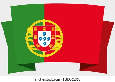 A 3D Banner with the Country Flag of  Portugal