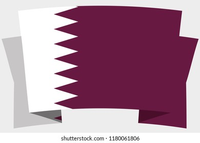 A 3D Banner with the Country Flag of  Qatar