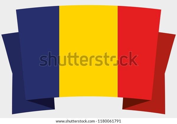 A 3D Banner with the Country Flag of  Romania