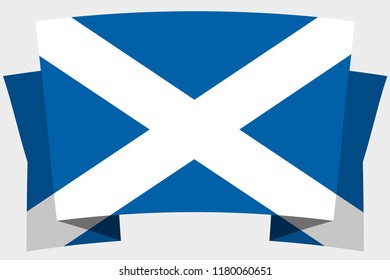 A 3D Banner with the Country Flag of  Scotland